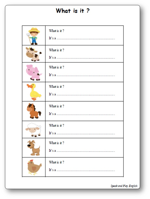 Old MacDonald Had a Farm : activity worksheet
