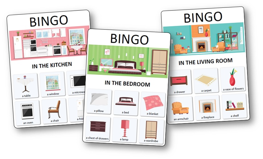House And Furniture Bingo Cards Free Printable House Bingo Printable