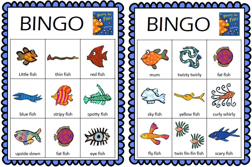 Hooray For Fish Bingo Cards