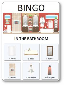 House Bingo : in the bathroom