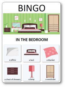 House Bingo : in the bedroom