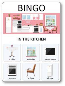 House Bingo : in the kitchen