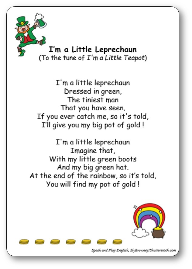 I'm a Little Leprechaun, Saint Patrick's Day Song and Lyrics