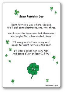 Saint Patrick's Day Poem