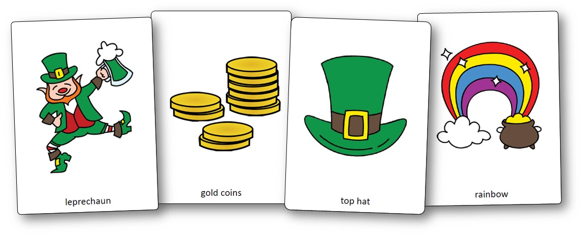 Saint Patrick's Day Picture Cards, Saint Patrick's Day Vocabulary Words