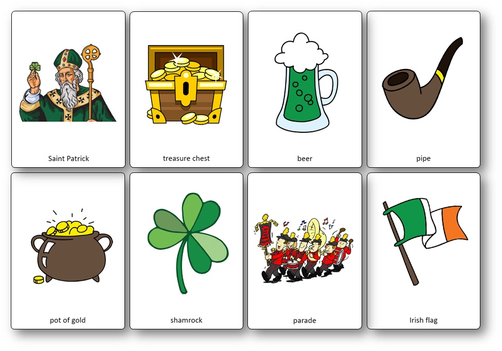 Saint Patrick's Day Vocabulary ESL