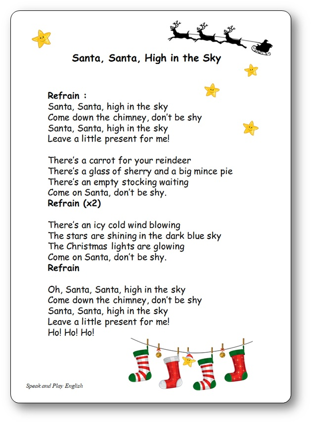 Santa, Santa High in the Sky, santa high in the sky lyrics