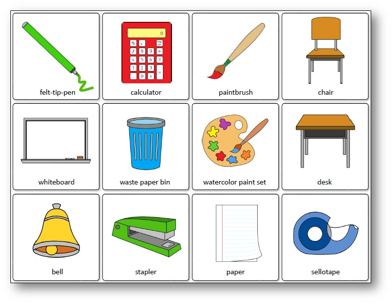 Classroom Object Matching Game