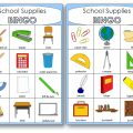 Classroom Objects Bingo for Kindergarten
