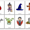 Halloween Flashcards Pictures, Halloween Flashcards for Kindergarten
