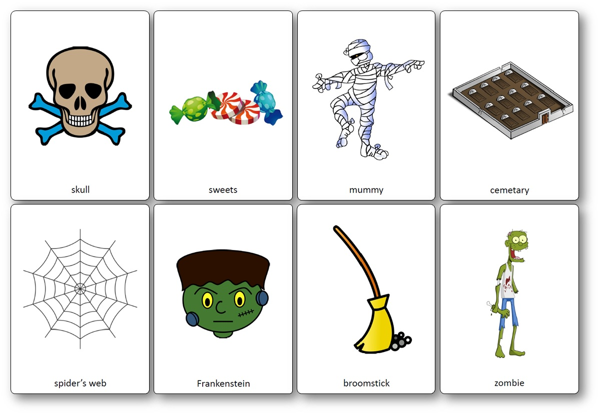 photo relating to Halloween Printable named Halloween Flashcards - No cost Printable Flashcards toward Obtain