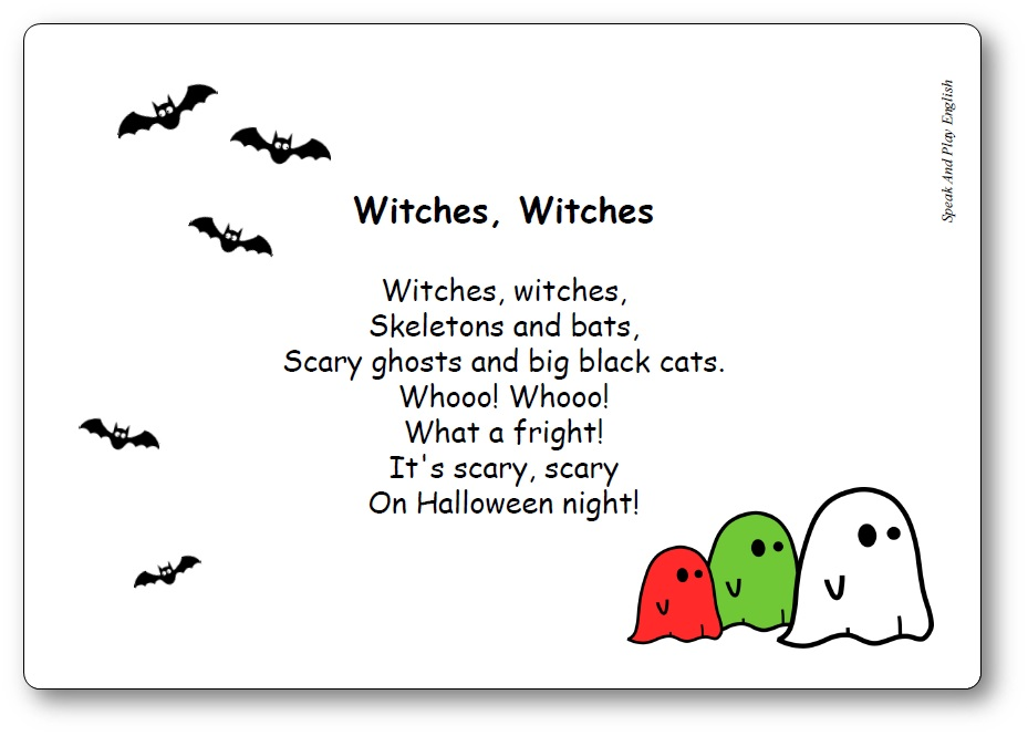 Witches Witches Skeletons and Bats song