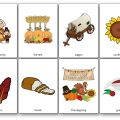 Printable Thanksgiving Flashcards