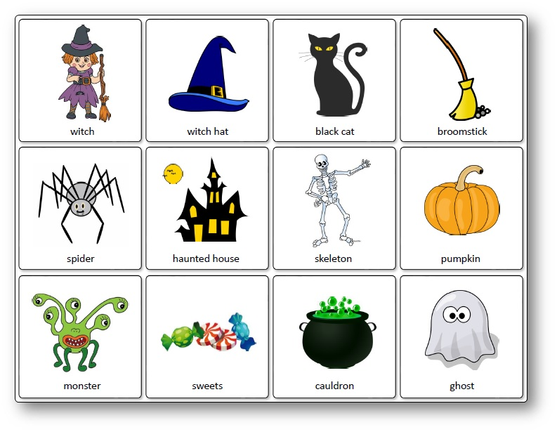 graphic relating to Animal Matching Game Printable named Halloween Matching Activity - No cost Printable - Communicate and Engage in