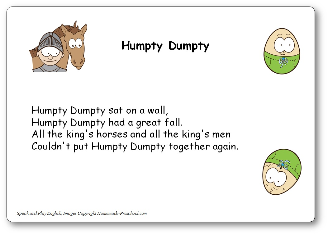 Humpty Dumpty Song with Lyrics in French and Music, humpty dumpty in french lyrics