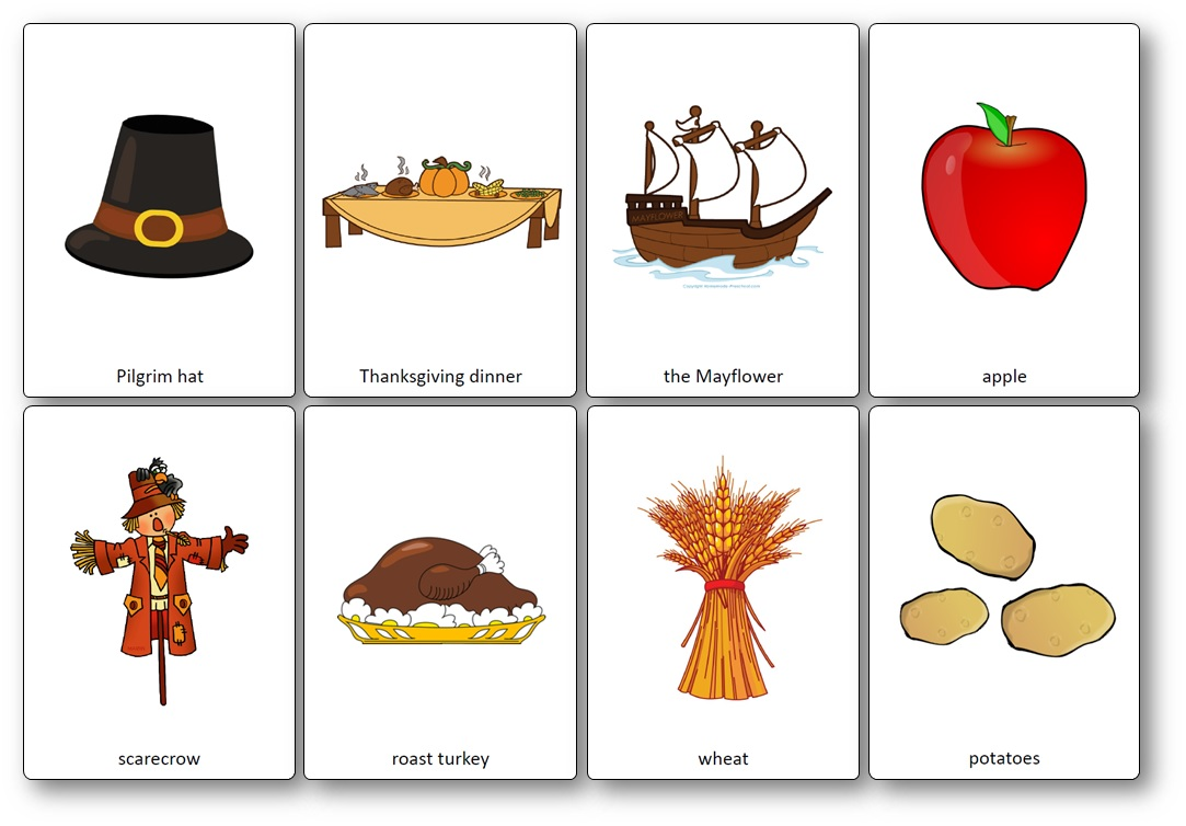 Thanksgiving Flashcards ESL
