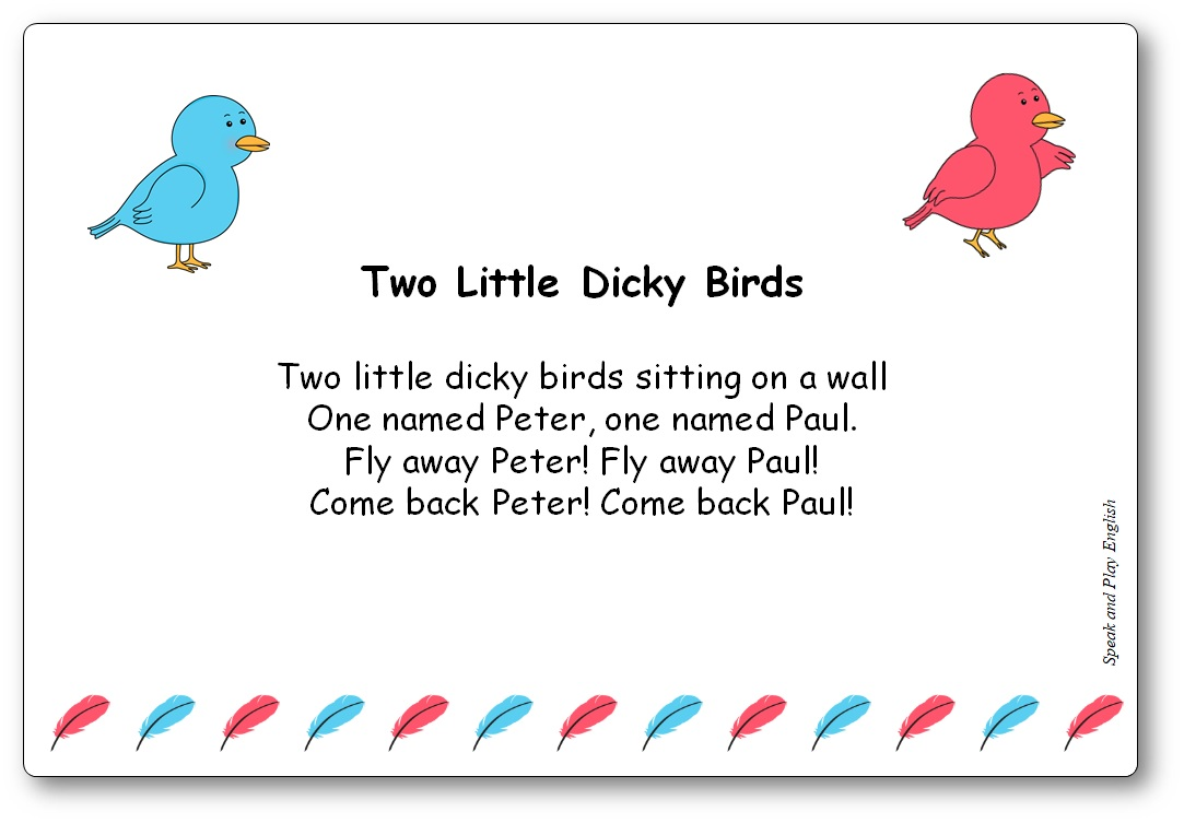 Two Little Dicky Birds Sitting on a Wall Lyrics