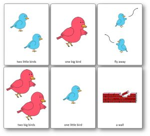 Two Little Dicky Birds Picture Cards