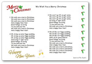 Soft image intended for we wish you a merry christmas lyrics printable