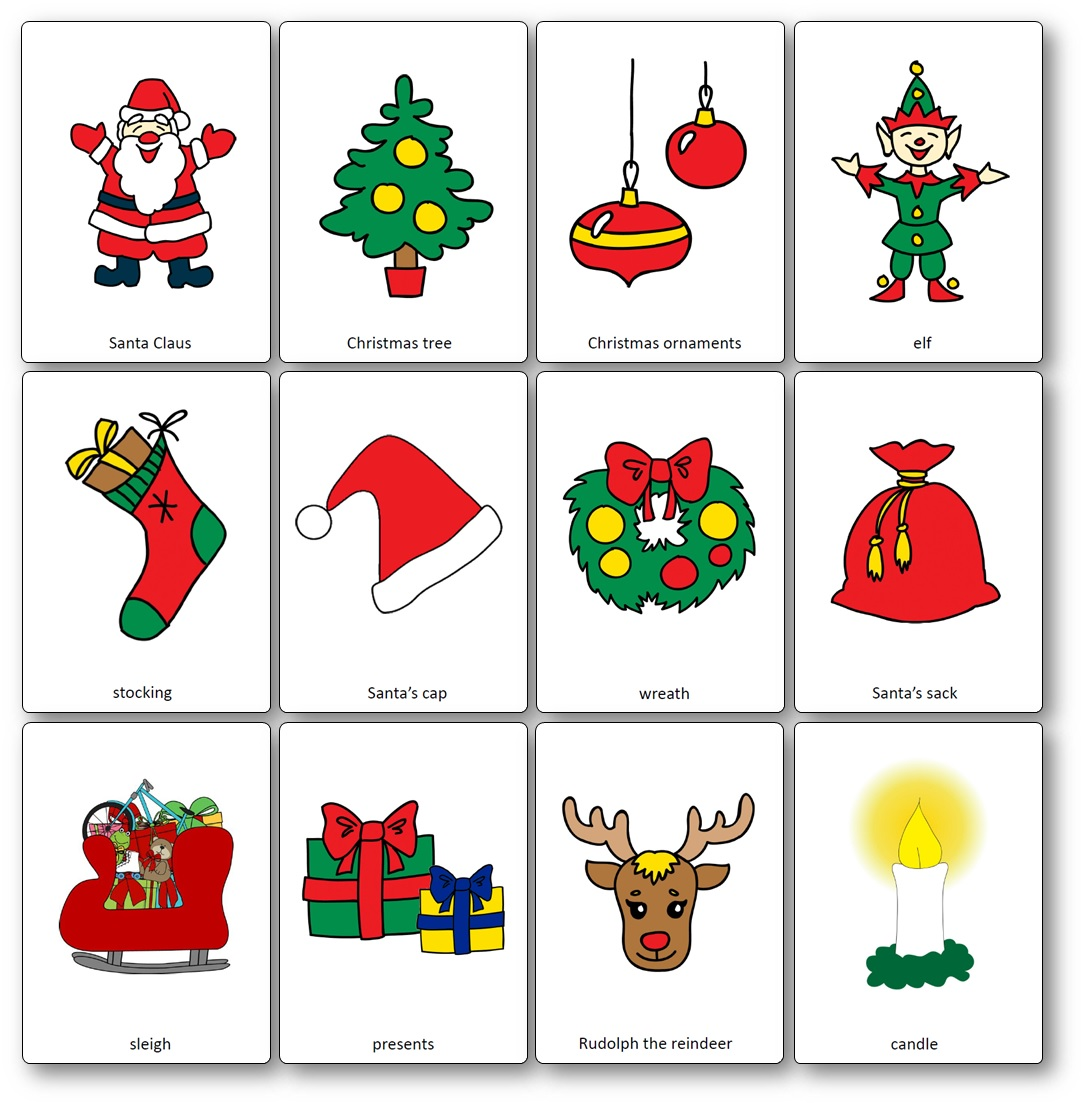 photo about Printable French Flashcards referred to as Xmas Flashcards - Totally free Printable Flashcards towards Obtain