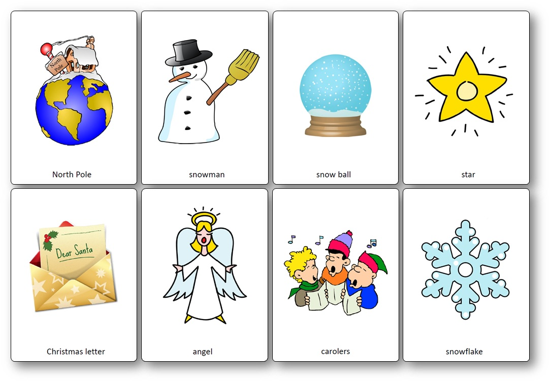 Christmas Flashcards words free