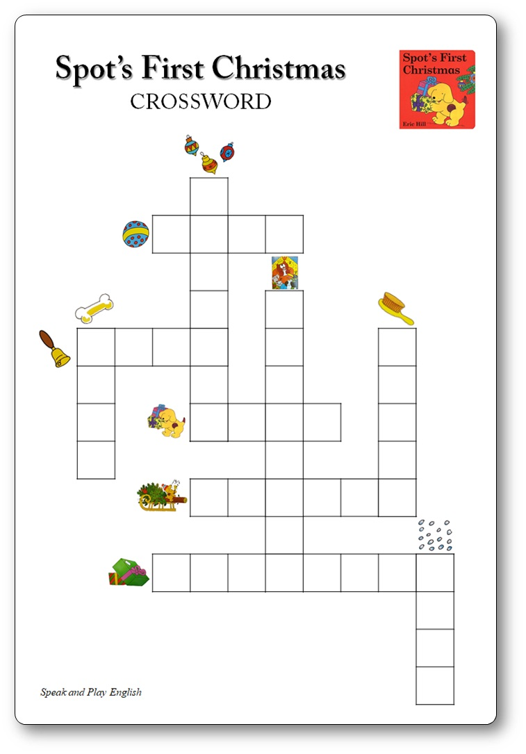 Spot's First Christmas Printable, Spot's First Christmas Crosswords