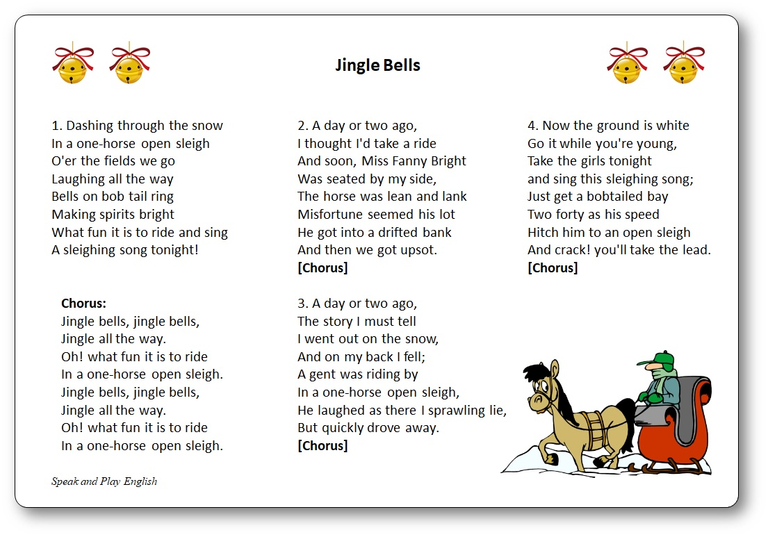 jingle bells lyrics in french