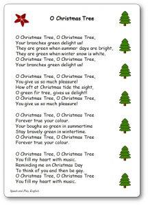 Oh Christmas Tree Lyrics In French