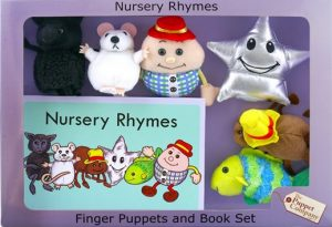 Humpty Dumpty Finger Puppets and Book Set