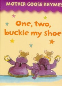 One, Two, Buckle My Shoe from the album Mother Goose Rhymes, illustrated by Jan Lewis