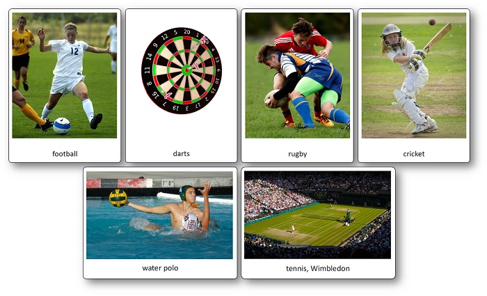 Famous English Sports Images Vocabulary