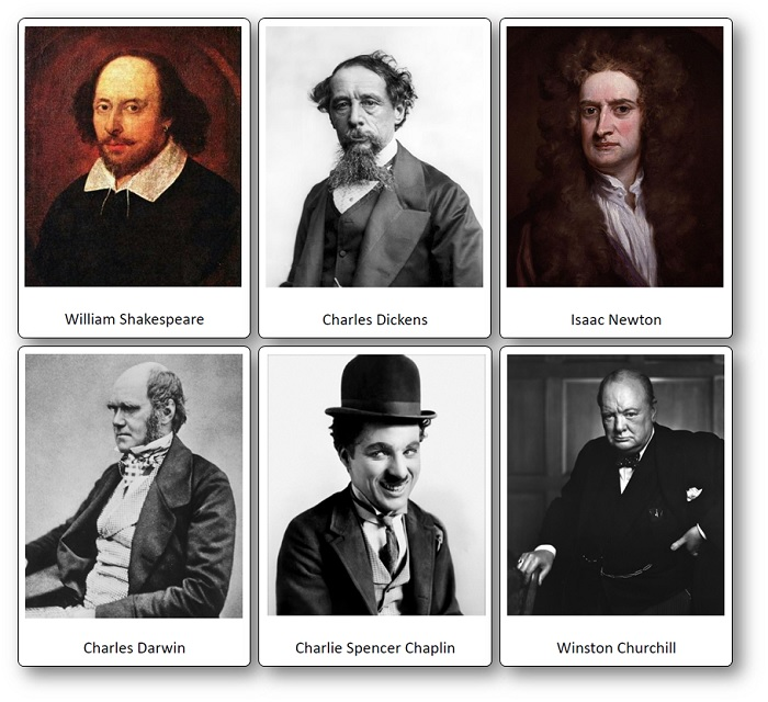 famous English people images