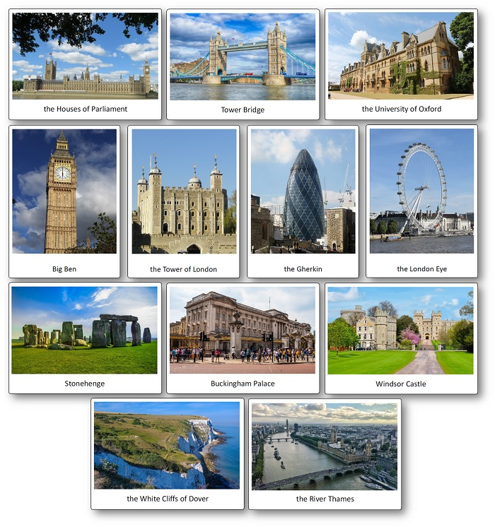 pictures of famous buildings and places in London and England, United Kingdom Pictures