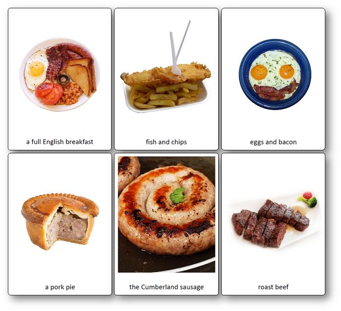 traditional english food images Printable