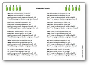 Ten Green Bottles Counting Song