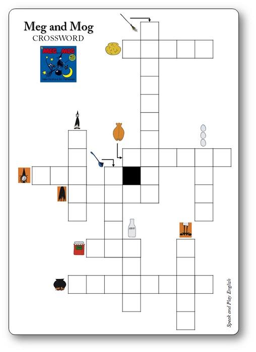 Meg and Mog Crossword Game Printable
