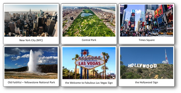 United States Picture Cards: Monuments and Landscape