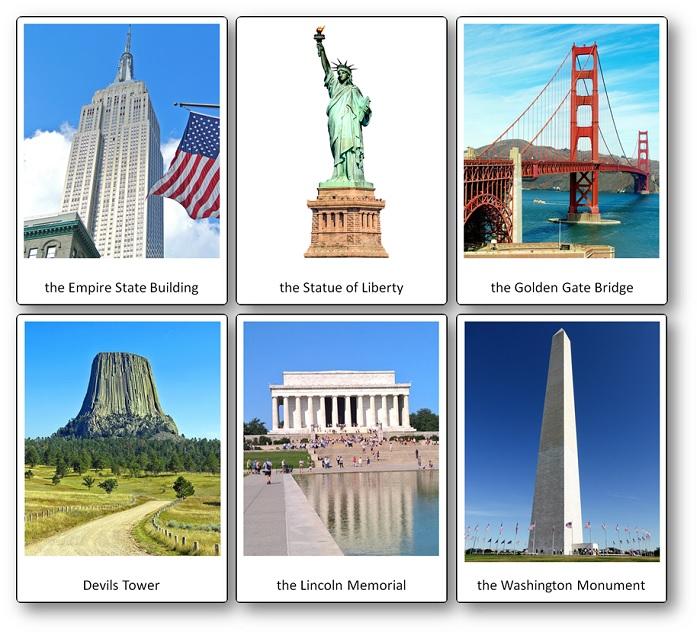 United States Pictures Cards Monuments and Landscape
