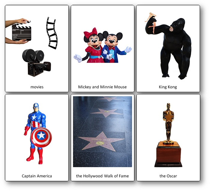Film Industry of the United States Picture Cards