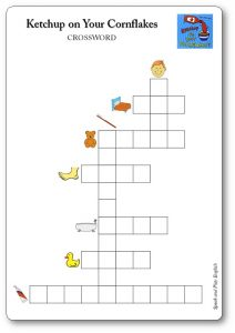 Ketchup on Your Cornflakes Crossword Activity Worksheet