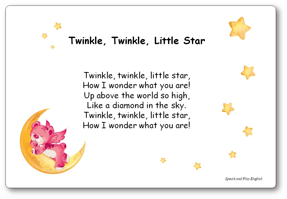 """Twinkle, Twinkle, Little Star"" Song Lyrics in English and in French"