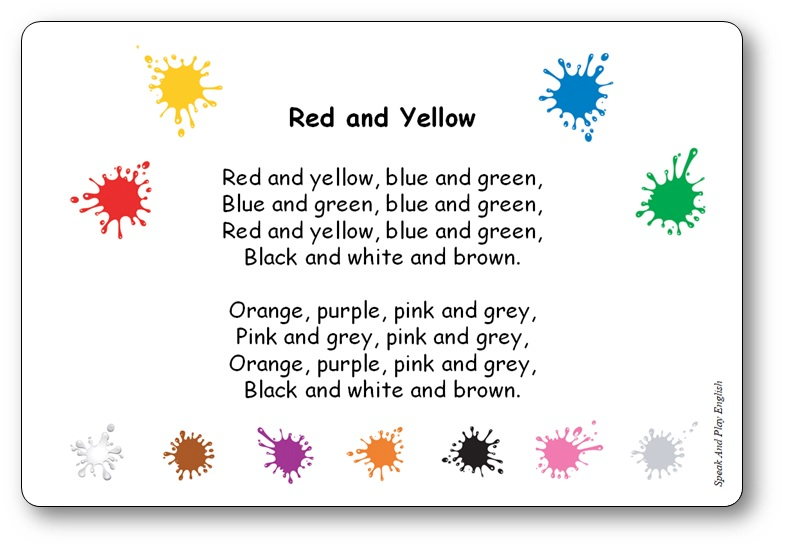 Red and Yellow (Blue and Green) - A Colour Song with Lyrics in French and in English - red and yellow blue and green song