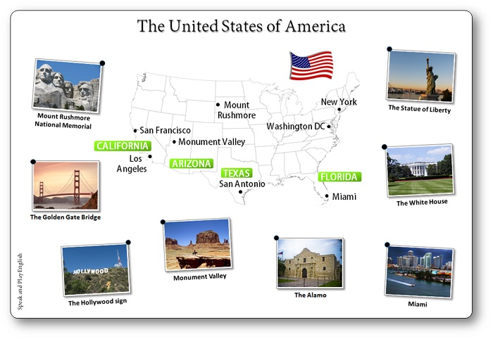 Free Printable Map of the United States, printable picture of the united states of america map