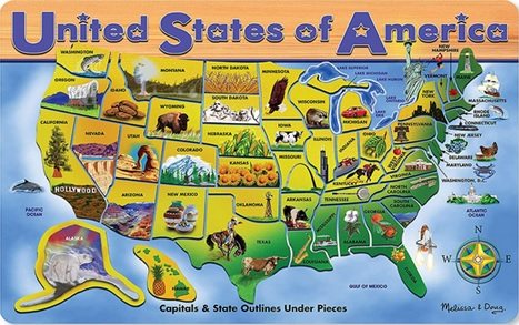 United States of America: Capitals and States Map
