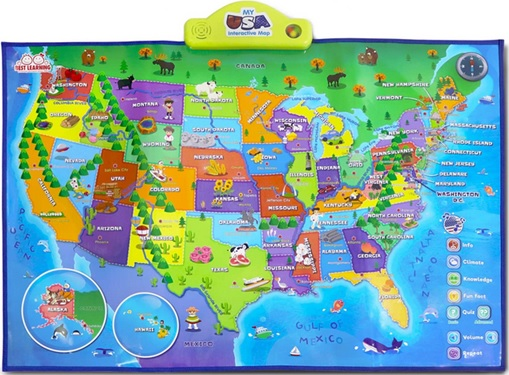 United States of America: Buy a Map for Kids