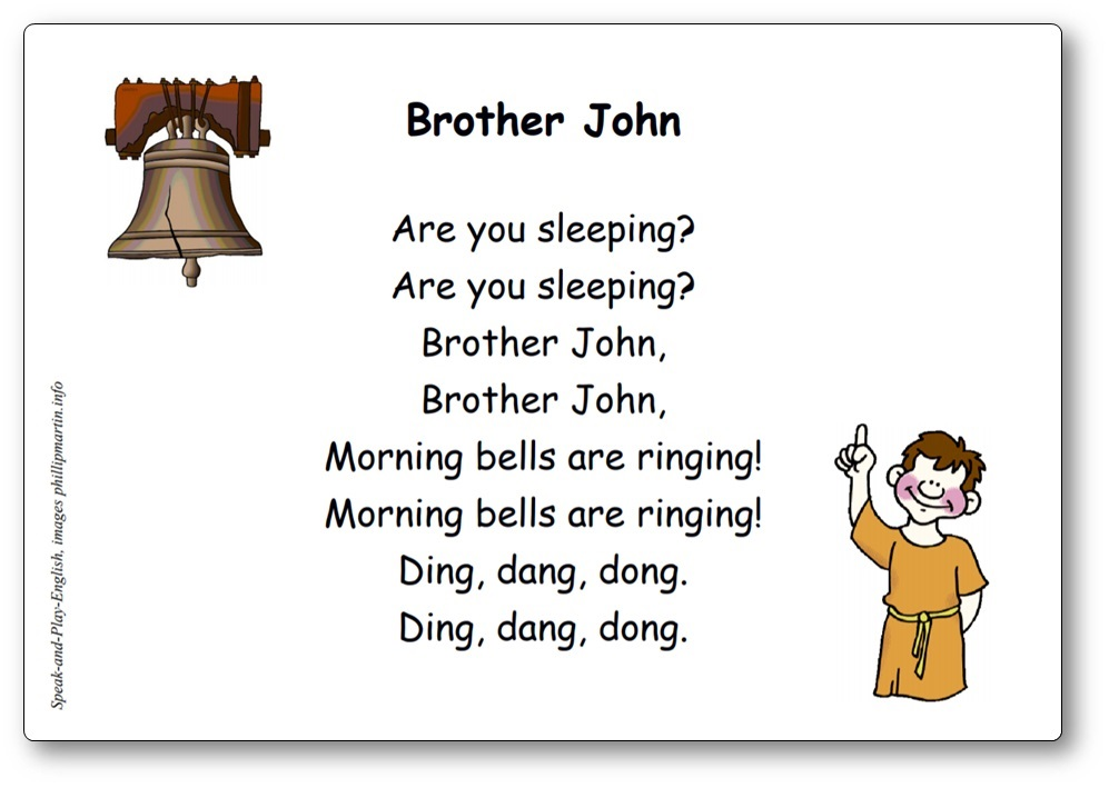 Brother John Lyrics in English and in French