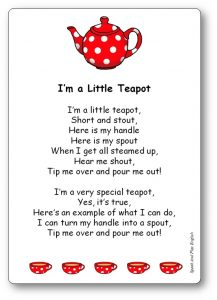 I'm A Little Teapot translated in French Free Download