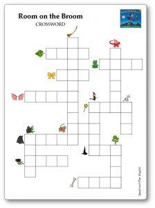 Room on the Broom Crossword Worksheet Game Printable