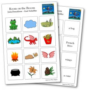 Room on the Broom Memory Game Cards to Print