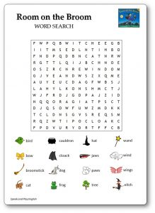 Room on the Broom Word Search Printable Free Download